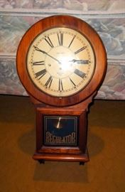 "Virchow Regulator Clock, Plays Westminster Chime, With 2 Keys 25""T x 13.5""W x 5""D"