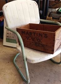 old metal patio/motel chair