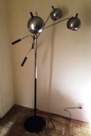 mid century chrome eyeball cantilevered floor lamp Robert Sonneman