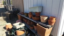 Tons of outdoor clay pots