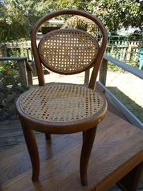 VINTAGE Child's Bentwood Chair - Great for a small child or doll - NEAT piece of children's furniture!!!