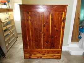 "Double Door Cedar Robe - Unusual size - 63"" Tall; 45"" Wide; 20"" Deep"