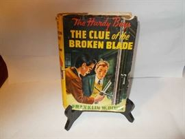 The Hardy Boys - The Clue of the Broken Blade - published in 1942 - colorful Book Jacket - WE HAVE 6 (!!!) of the Hardy Boys (with Book Jackets from this era) - all sold individually - great collection!!!!!!!