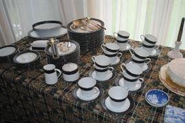 Noritake Dinnerware Set, Sharon Pattern.