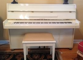 Samick upright piano and bench