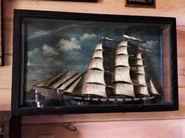 19th Century Clipper Ship Diorama