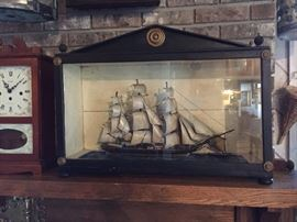 !9th Century Diorama / Shadow Box  Clipper Ship