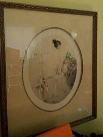 Authentic Paris ICART etchings