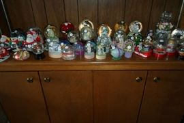 lots of snow globes