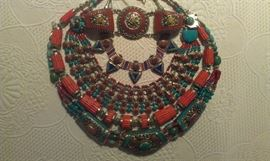 Turquoise, Coral & Lapis intricately designed necklaces & bracelets...sure to get noticed!!!