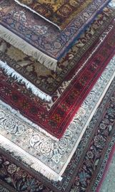 over 19 handmade international rugs to select from...