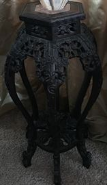 Hand Carved  Pedistal