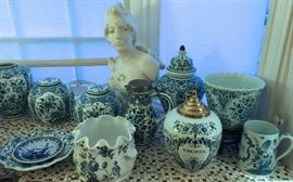 Collection of Vintage Delft.