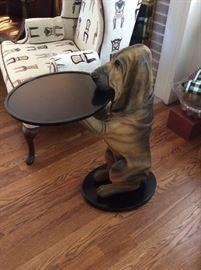 Bloodhound Dog Butler Table