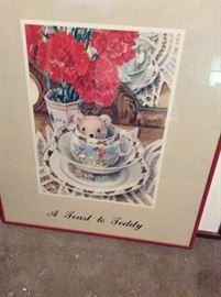 Teddy Bear Tea Print