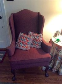 Tweed Wing Chair, by Bernhardt