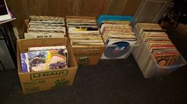 Hundreds of 45, lp and 78 records mostly Rock from the 60's - 80's