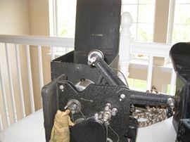 Vintage projector open