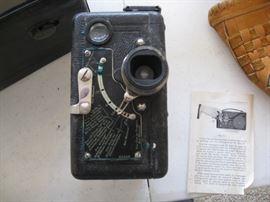 Vintage front of handheld camera