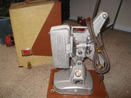Side view Kodak vintage projector with cover