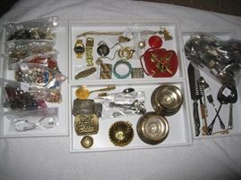 Some jewelry - Gruen watches - Zippo lighter - plated pieces