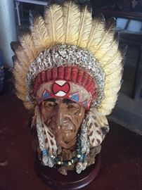 Chief Indianhead statue $20.00 **Buy It Now PayPal** Lot#09