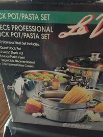 Stock pots-pasta set $20.00 **Buy it now PayPal**Lot#14