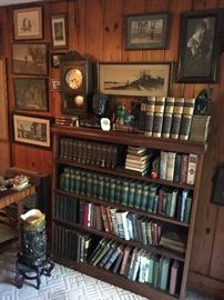 Especially nice bookcase.  The beautiful old clock keeps accurate time and chimes beautifully.