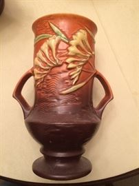 """Roseville Pottery """"Freesia"""" small chip in back"""