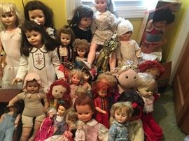Over 700 collectible dolls