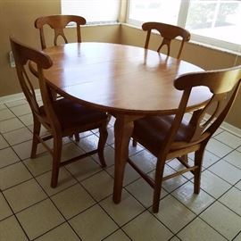 Wood Dining set with 4 chairs