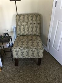 Year-old slipper chair, rarely used