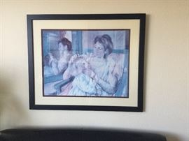Custom framed Mary Cassat print
