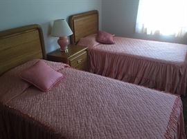 Twin Beds, Dresser with nightstand to match