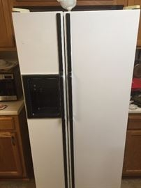 GE SXS Refrigerator with door dispensor