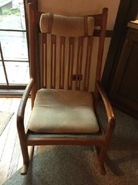Danish Modern Rocking Chair beautifully crafted great gift for the mother to be or grandma to be.