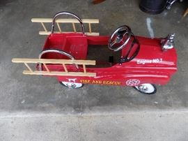 Metal Fire Engine Pedal Car