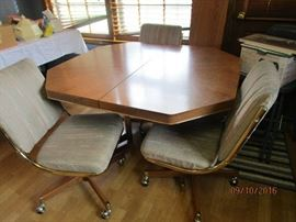 Chrome Craft dinette table, leaf and 4 chairs