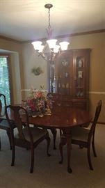 Dining room table and chairs - $250