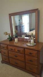 Dresser with mirror - $150
