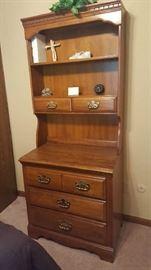 Dresser with hutch - $75