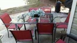 Patio set with 10 chairs
