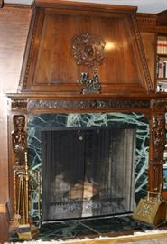 This amazing fireplace imported from Europe is only $695,000 (Of Course the beautiful home comes with it).
