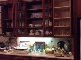 Wedgwood, Chinese, Fostoria, Italian dishes; silverplate flatware: First Love in box