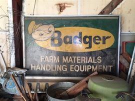 Badger Signage: 2 sided backlit (4x6 ft)