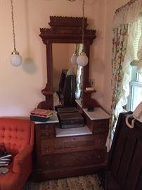 Vintage Dresser: Marble top