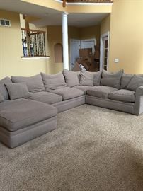 Clean grey sectional