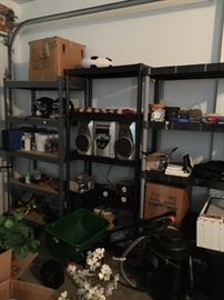 More shelving. And household items