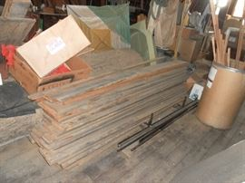 Part of assortment of barn wood
