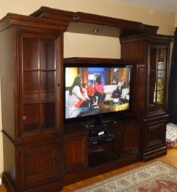 Beautiful 3 Piece Entertainment Center With Expandable TV Console